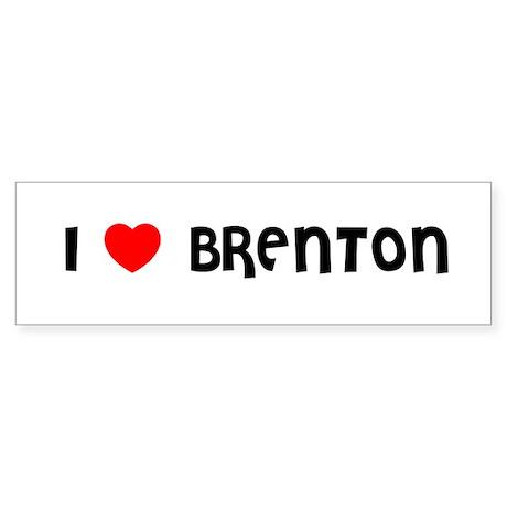 I LOVE BRENTON Bumper Sticker