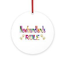 Newfoundland Ornament (Round)