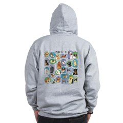 Dogs A-Z Zip Hoodie
