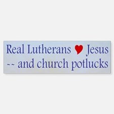 Jesus and Church Potlucks Bumper Bumper Bumper Sticker