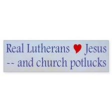 Jesus and Church Potlucks Bumper Bumper Sticker