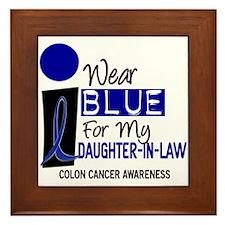 I Wear Blue For My Daughter-In-Law 9 CC Framed Til
