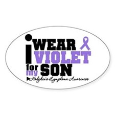 I Wear Violet For My Son Oval Decal