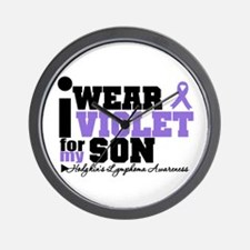 I Wear Violet For My Son Wall Clock
