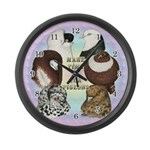 Make Time For Pigeons Large Wall Clock
