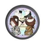 Make Time For Pigeons Wall Clock