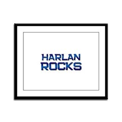 harlan rocks Framed Panel Print