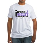 I Wear Violet Sister-in-Law Fitted T-Shirt