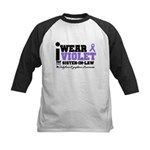 I Wear Violet Sister-in-Law Kids Baseball Jersey
