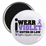 I Wear Violet Sister-in-Law Magnet