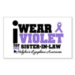 I Wear Violet Sister-in-Law Rectangle Sticker 50