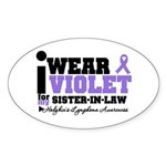 I Wear Violet Sister-in-Law Oval Sticker (10 pk)