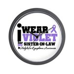 I Wear Violet Sister-in-Law Wall Clock
