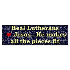 Jesus Makes All the Pieces Fit Bumper Bumper Sticker