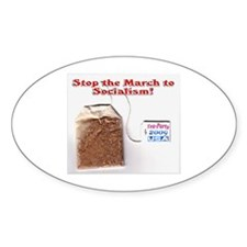 American Tea Party Oval Decal