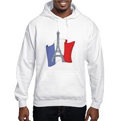 France Cartoon Flag Hoodie