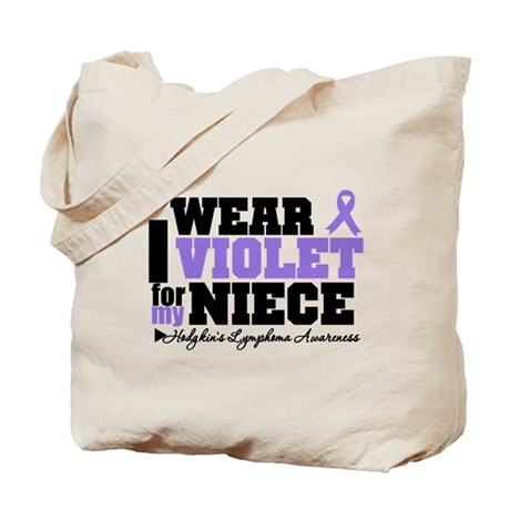 I Wear Violet For My Niece Tote Bag