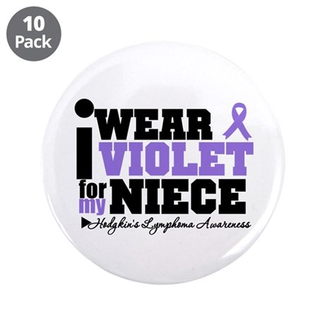 """I Wear Violet For My Niece 3.5"""" Button (10 pack)"""