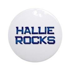 hallie rocks Ornament (Round)