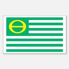 Ecology Flag Rectangle Sticker 10 pk)