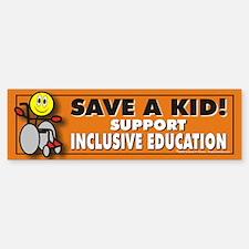 Save a Kid Bumper Bumper Bumper Sticker