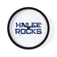 hailee rocks Wall Clock