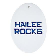 hailee rocks Oval Ornament