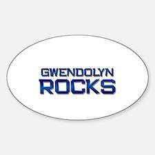 gwendolyn rocks Oval Decal