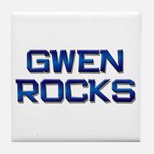 gwen rocks Tile Coaster