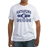 Kayaking Mom Fitted T-Shirt