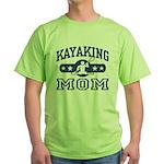 Kayaking Mom Green T-Shirt