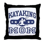 Kayaking Mom Throw Pillow