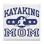 Kayaking Mom Tile Coaster