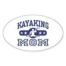 Kayaking Mom Oval Decal