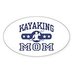 Kayaking Mom Oval Sticker
