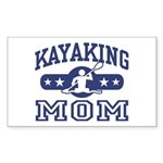 Kayaking Mom Rectangle Sticker