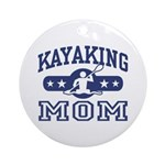 Kayaking Mom Ornament (Round)