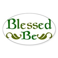 Blessed Be Oval Decal