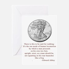 Walking Liberty Greeting Card