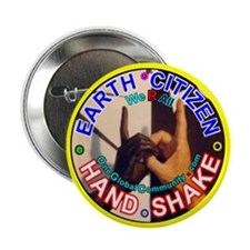 "EARTH CITIZENS HAND-SHAKE 2.25"" Button (100 pack)"