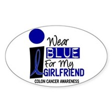 I Wear Blue For My Girlfriend 9 CC Oval Decal