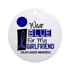 I Wear Blue For My Girlfriend 9 CC Ornament (Round