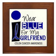 I Wear Blue For My Girlfriend 9 CC Framed Tile