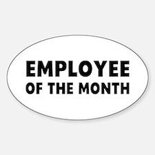 Employee Month Sticker (Oval)