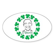 oddFrogg Obama Shamrock Oval Decal
