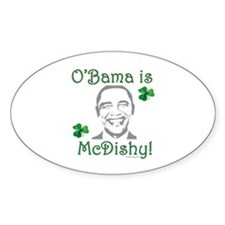oddFrogg Obama Is McDishy Bumper Decal