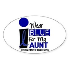 I Wear Blue For My Aunt 9 CC Oval Decal