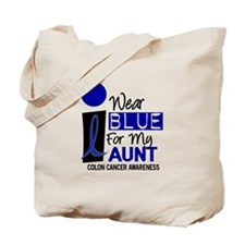 I Wear Blue For My Aunt 9 CC Tote Bag