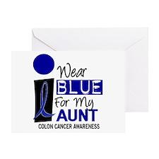 I Wear Blue For My Aunt 9 CC Greeting Card