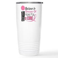 BELIEVE DREAM HOPE Breast Cancer Travel Mug